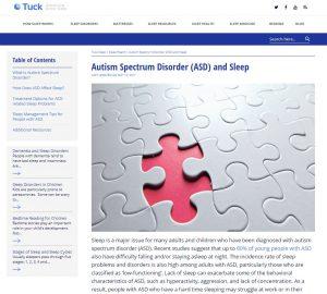 Autism Spectrum Disorder and Sleep